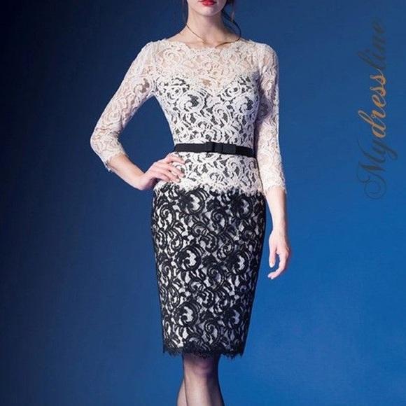 140897d1fe2 TADASHI SHOJI Lace 3 4 Sleeve Dress