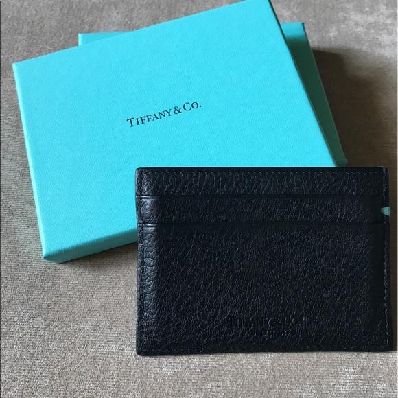 meet a249f d4f83 Tiffany & Co Black Leather Credit Card Wallet