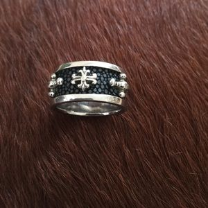 Alan K Other - Men's Alan K 925 Silver and Sting Ray Ring