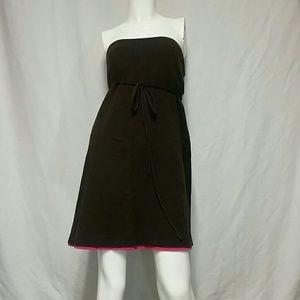 Moda International Dresses & Skirts - Brown strapless dress