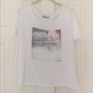 Hollister graphic oversized tee