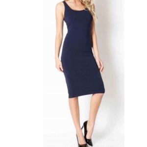 Classic Woman Dresses & Skirts - Navy midi tank dress