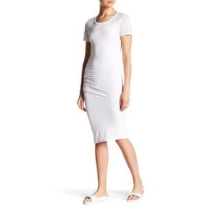 James Perse Dresses & Skirts - james perse short sleeve t shirt dress in white.