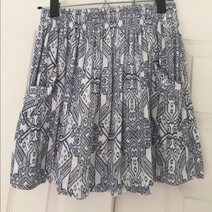 Forever 21 tribal print swing skirt