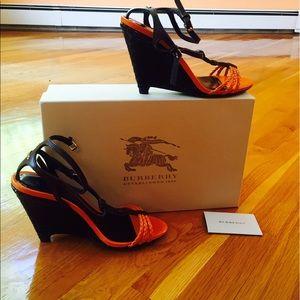 Burberry summer wedge sandals