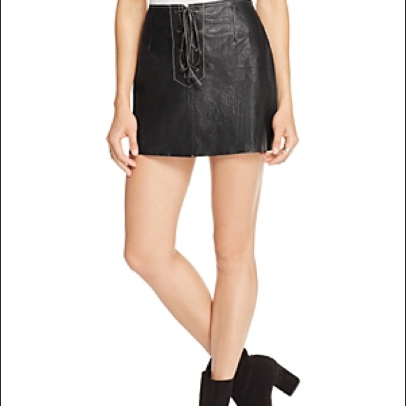 8b9ac2993d Free People Skirts | Join Hands Leather Skirt | Poshmark