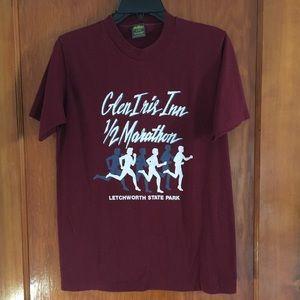 VTG 80's maroon marathon tee