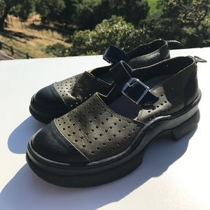 Giraudon Shoes - Giraudon Sport Mary Jane Shoes Green Black 7