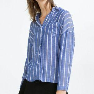 Zara Tops - Zara Basic Striped Blouse