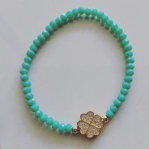 Dainty gold jewelry statement bracelet
