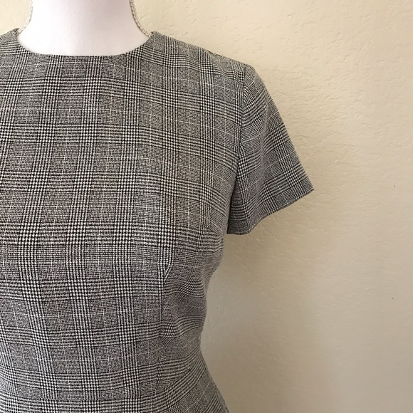 80 Off Loft Dresses Amp Skirts Loft Gray Plaid Short