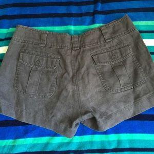 island company Pants - Slate blue shorty shorts from island company linen