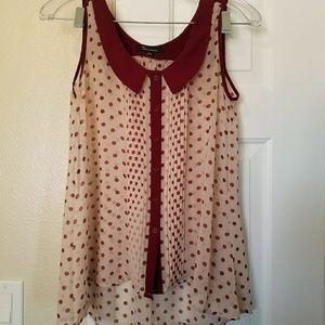 Boheme Tops - Polka dot blouse flash sale!