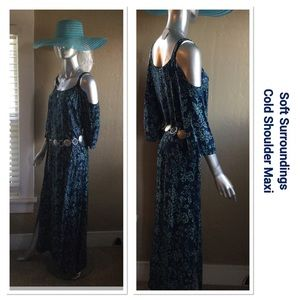 Beautiful Cold Shoulder Maxi w/ Belt
