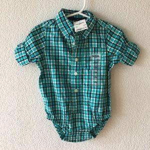 Osh Kosh Other - Dress shirt onesie