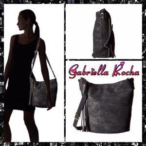 Gabriella Rocha Handbags - NWT- Black shimmer shoulder bag with tassel