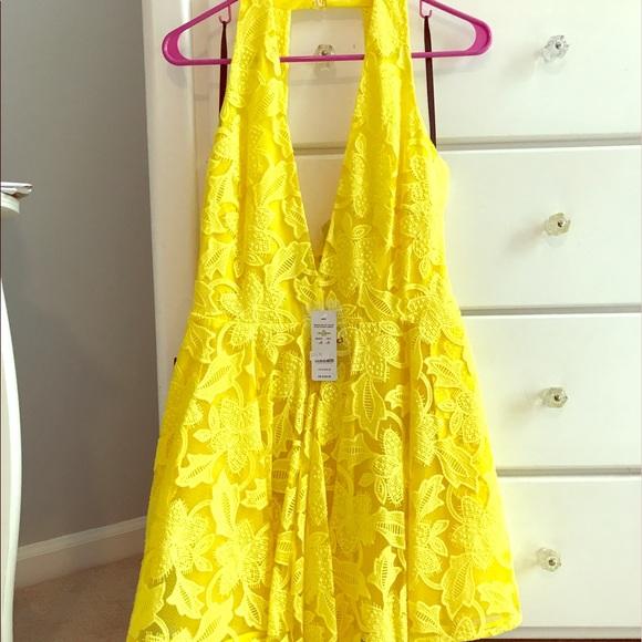 50 off bebe dresses skirts bebe yellow cocktail dress for Bebe dresses wedding guest