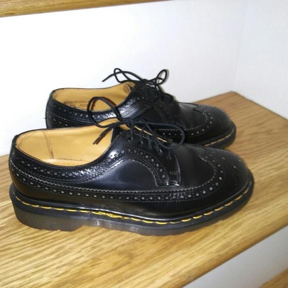 78b4599047d Dr. Martens Shoes | Vintage England Dr Martens 3989 Wingtips Uk 8 ...