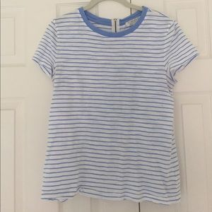 Forever 21 striped zip detail T-shirt