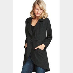 CAbi Jackets & Blazers - NWOT CAbi Gray Ponte Knit Lisbon Topper Jacket