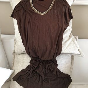 Other - Brown beach cover up with neckline embellishments.