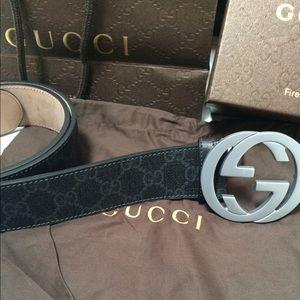 Gucci Other - Gucci Black Canvas Belt