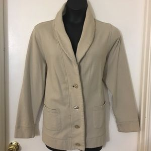 Tan Collared Cardigan with Buttons