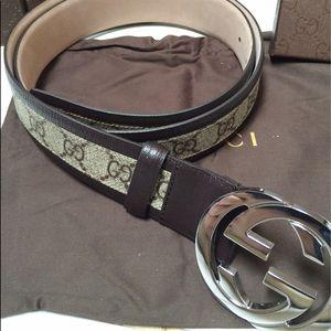 Gucci Other - Gucci Brown Trim Belt