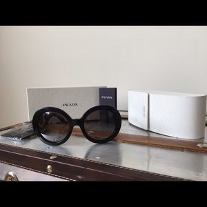 Accessories - Black Prada baroque sunglasses