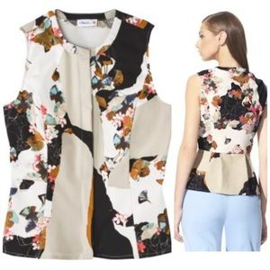 3.1 Phillip Lim for Target Tops - 3.1 Phillip Lim Target Asian Floral Peplum Blouse