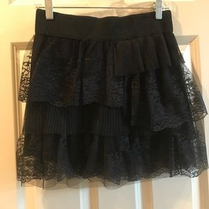 Other - Black ruffle lace skirt