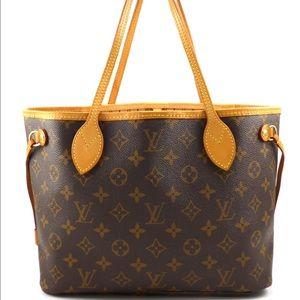Louis Vuitton Handbags - Luis Vuitton Auth Neverfull PM Monogram Canvas Bag