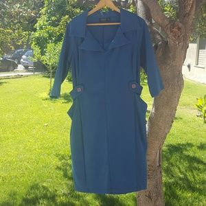 Igigi Dresses & Skirts - Retro Style Sharp Collar Dress with Pockets