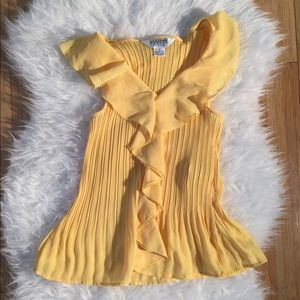 Allison Taylor Tops - Canary yellow summer top