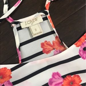 J. Crew Tops - Floral and striped tank
