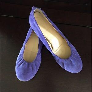 J. Crew Shoes - J. Crew purple suede flat