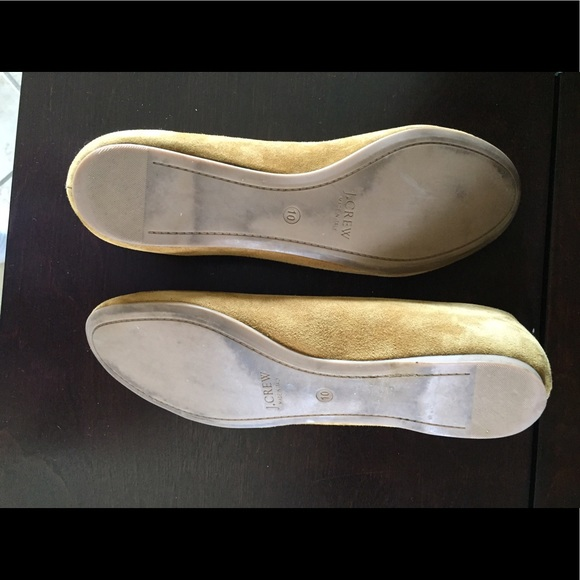 j crew j crew camel colored suede flat from