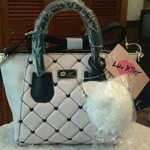 Betsy Johnson  Handbags - Betsy Johnson NWT Pink /Ivory Dome Crossbody Bag