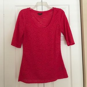 NWOT Express pink lace top