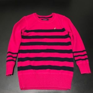 Nautica Other - EUC M (5/6) Nautica Pink & Navy Stripe Sweater