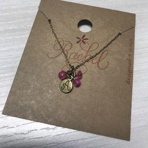 Monogram A necklace ~ NWT