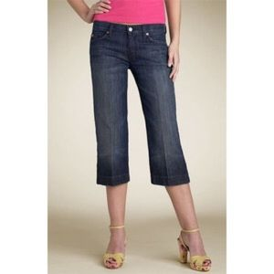 7 For All Mankind Denim - 7 For All Mankind Dojo Crop Jeans Los Angeles Dark