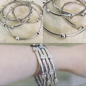 Vince Camuto Jewelry - Vince Camuto bangle bracelets in silver set of 4