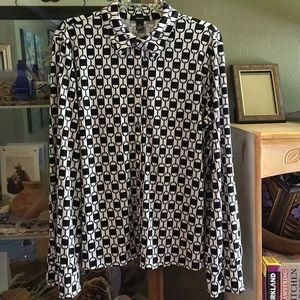 Alfani Tops - Alfani Long Sleeve Button Up Blouse