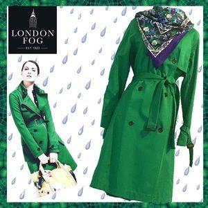 London Fog Jackets & Blazers - LONDON FOG NWT Trench Coat Kelly Green ~ Sm
