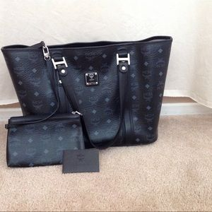 MCM Handbags - Auth MCM BLACK TOTE BAG with pouch