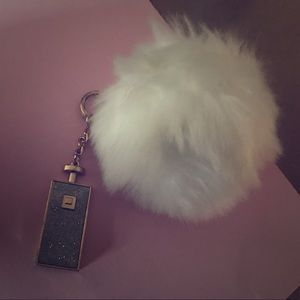 primark Accessories - White fluffy puff Pom Pom from primark store NEW!!