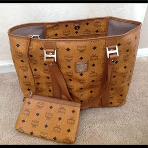 MCM Handbags - Available Authentic MCM brown tote bag with pouch