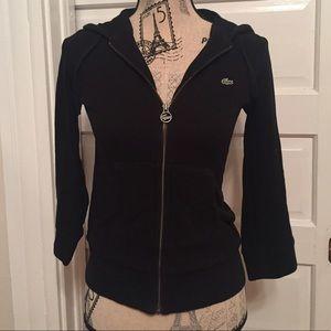 Lacoste Tops - Lacoste // Terry Cloth Zip Up Sweatshirt