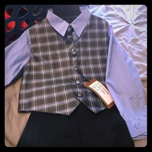 Andrew Fezza Other - 4T boys checkered shirt, vest and tie and pants.